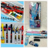 TF-04150725002 2015 children's cartoon key ring ball pen big hero pen frozen ball pen