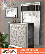Modern wooden home mini bar cabinet design OW105