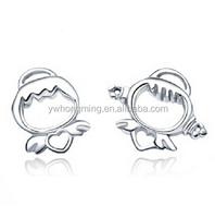 925 sterling silver small person earrings women fashion stud earrings hot selling