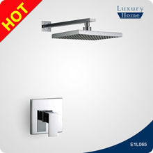Surface mounted ceiling shower water saving