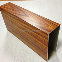 beautiful design 4D imitation wood grain aluminum extrusion profile for window and door, curtain wall, home decor
