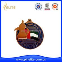 custom metal medal for UAE country, copper medal