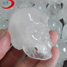 100% natural price of quartz crystal full clear skull wholesale crystal