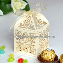 """Elegant design laser cut """"cross"""" wedding favor boxes for wedding giveaways"""