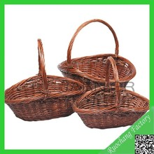 New design fashion fruit basket painting/ christmas gift basket set of 3