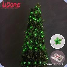 LIDORE 2015 One Dollar Item Christmas Green Petals LED Copper String Light