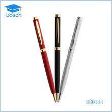 Jumbo slim golden finish metal pen with golden clip