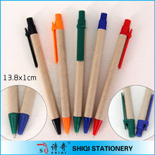 Retractable recycled paper pen