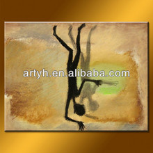 Direct Sale Decor Art Abstract Oil Painting With Figure On Canvas
