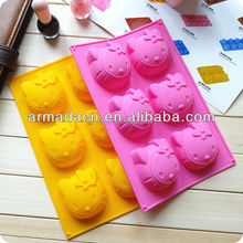 6 cavities KT design silicone jelly cake moulds