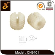 Plastic White nut hardware furniture nut