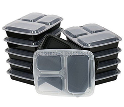 qianhui Novelty Lunch Box Sets / Large Food Container with Lid / 3 Compartment Ben
