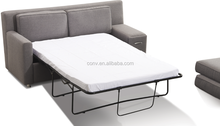 Fabric Hotel Modern Sofa Cum Bed With Drawer