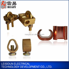 High quality 100% metal copper grounding earth rod g clamp c clamp u clamp