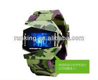 Creative design Top brand LED Airplane watch sports water proof watch,watch manufacturer&supplier&exporter Runking watch-1030-2