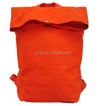 Cheap fashion shopping backpack canvas backpack