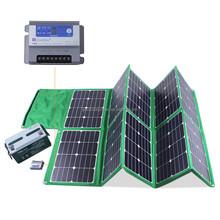 waterproof power kit 300W sunpower folding solar panel for 230V for camping , car, boat, solar system etc.