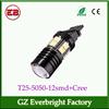High bright T25 3156 3157 12 smd 5050 + 1 C.R.E.E Turn light Parking Light, auto led