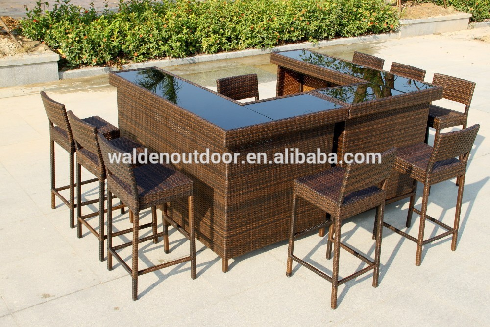 Bar en rotin ext rieur meubles chaise set de table lots de for Meuble en rotin exterieur