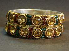 New design of Indian Lakh Bangle Copper Green color For Wholesale
