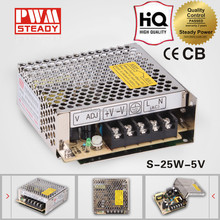 Power Supply LED Driver S-25 5V 25W With CE