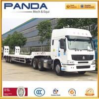 PANDA Trailer 3 axles 60ton steel material lowbed trailer for transport equipment