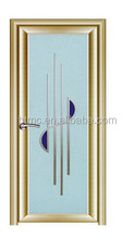 china supplier double tempered interior frosted glass door for bathroom