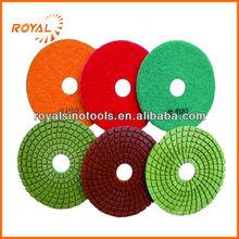 Flexible wet diamond hand polishing pads