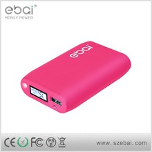 9000mah LCD screen display 2A input universal portable power bank with replaceable battery