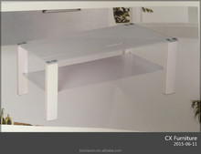 home modern used frosted glass coffee table for sale