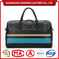 2015 Hot Selling Men's Tote Bag Genuine Leather Travel Bags Duffels