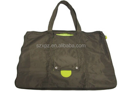 Promotion advertising foldable brown grocery bag