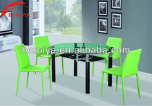 modern glass round dining table 1200 mm set designs