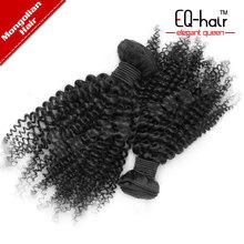 Remy human hair,EQ hair products natural color virgin malaysian kinky curly hair