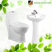 A3122/D601 Ceramic Siphonic One Piece Toilet And Pedestal Basin Bathroom Sanitary Sets