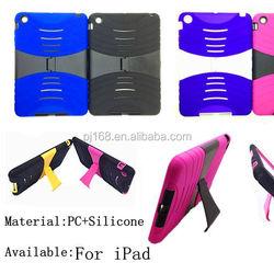 hybrid heavy duty combo hard kickstand cover case for ipad mini 2