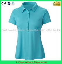 Custom Logo high quality cool soft pique/jersey cotton polo t shirt for ladies(7 Years Alibaba Service)