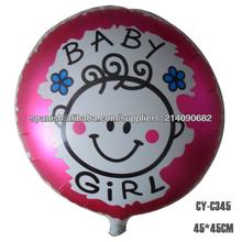 Globo de la niña de helio al por mayor de la fiesta de cumpleaños de la hoja de la decoración los 45 * 45cm Hecho en China