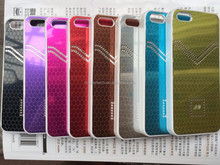 Real photo wholesale Honeycomb pattern aluminium mirror case for Apple iphone 5c bling bling case