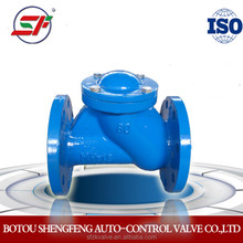 DIN standard ball type check valve with flange connection