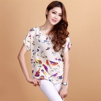 Newest S-XXL 19 Colors Womens Summer Casual Chiffon Loose Batwing Dolman Ladies Girl Tank Tops Tees Blouse