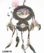 hanging feather dream catcher for wall decor LZDM176