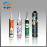 raw materials easy application colored silicone sealant quick pu