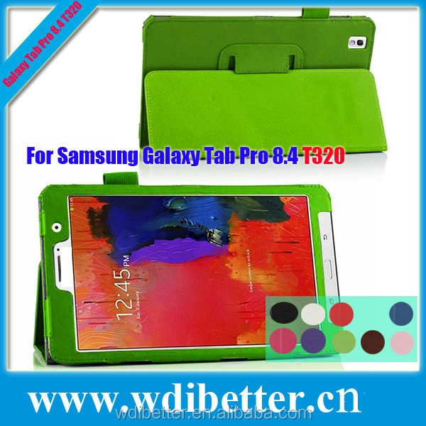 10 Colors Ultra Slim Flip Stand Leather Tablet Case For Samsung Tab Pro T320