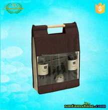 eco friendly nonwoven wine bottle bag clear