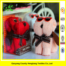 Manufactures cheap cake towel promotion custom microfiber dog gift towel