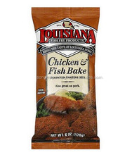 back middle sealed plastic bag for chicken fish bake