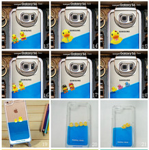 Factory Customzied 2015 New Fashion Liquid Duck Phone case for iPhone Clear Case