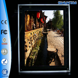 Edge-lit lighted acrylic led picture frame