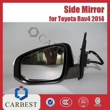 High Quality Hot Selling Side Mirror Door Mirror With Light for Toyota Rav4 2014